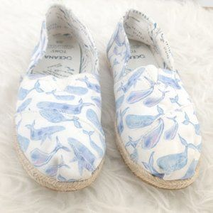 Toms Oceana Watercolor Whale Sea Ocean Size 8